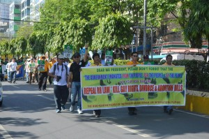 March for Marriage in Cebu Philippines with HLI's Dr. Bullecer. March 2015