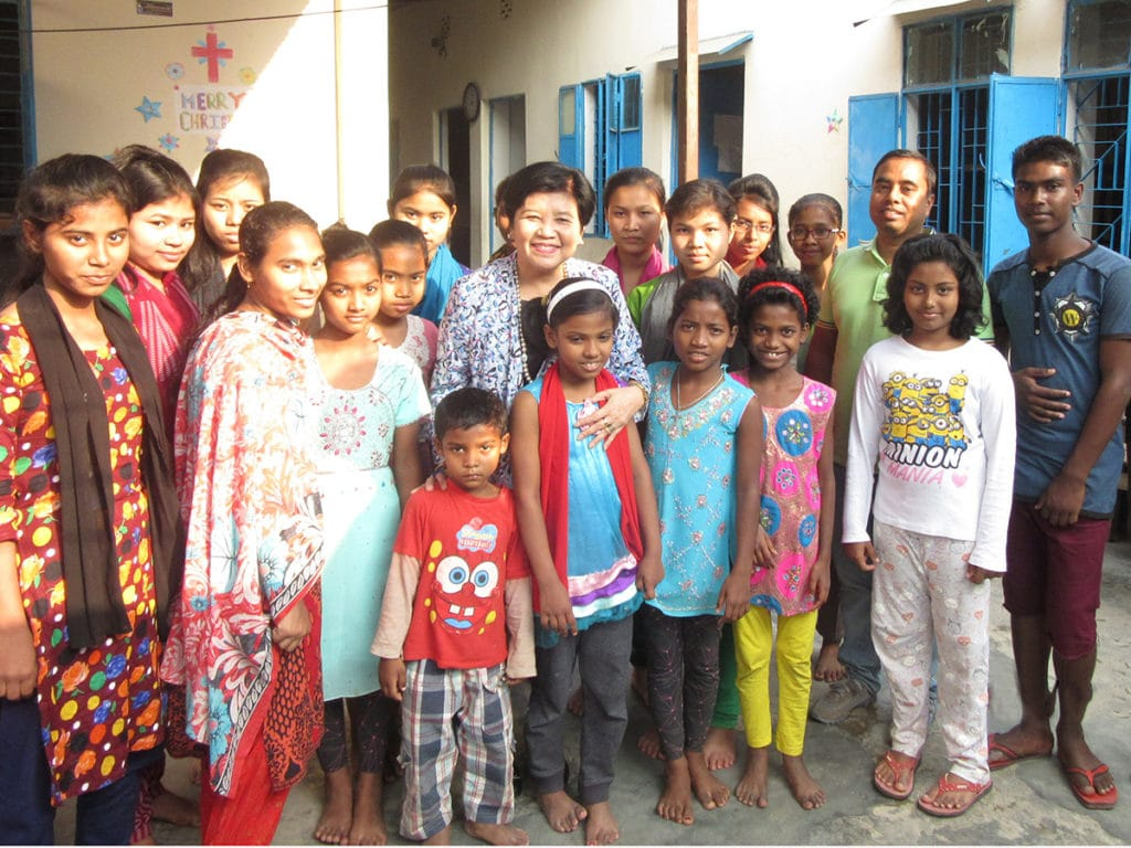 With-some-of-the-children-at-the--Home-for-Champions-Orphanage,-Savar-District,-Dhaka,-Bangladesh,-February--2017