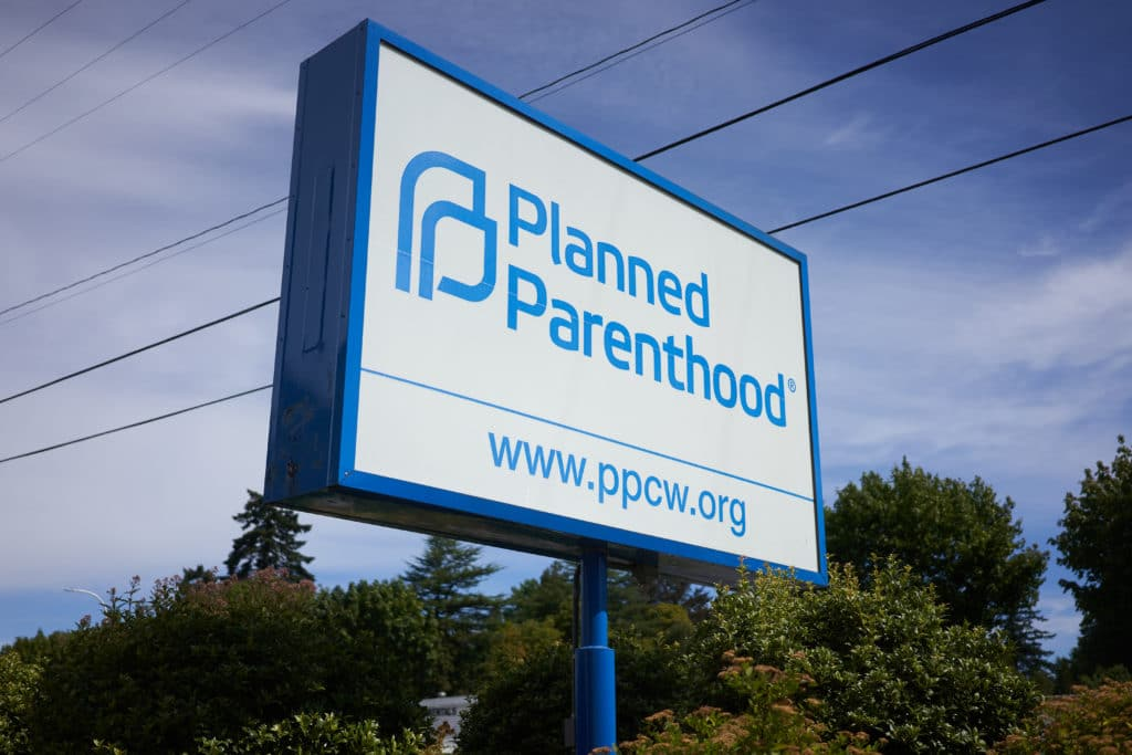 Milwaukie, OR, USA - Planned Parenthood sign - who pays for abortions at planned parenthood